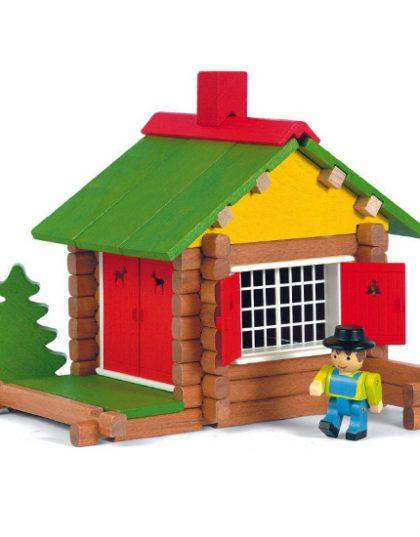 jouet maison bois couleur
