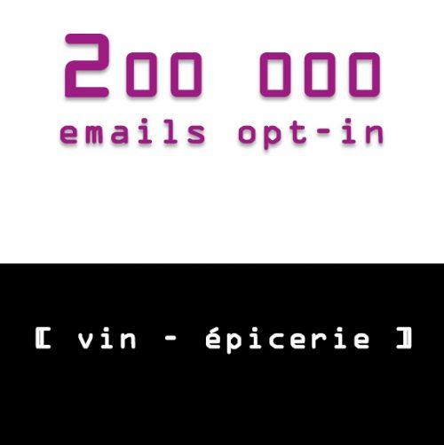 emailing vin epicerie